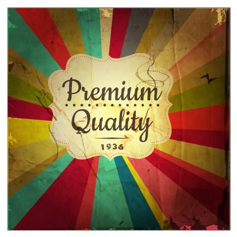 retro premium quality label