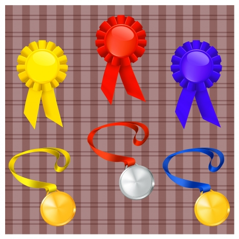 ribbon and medal set