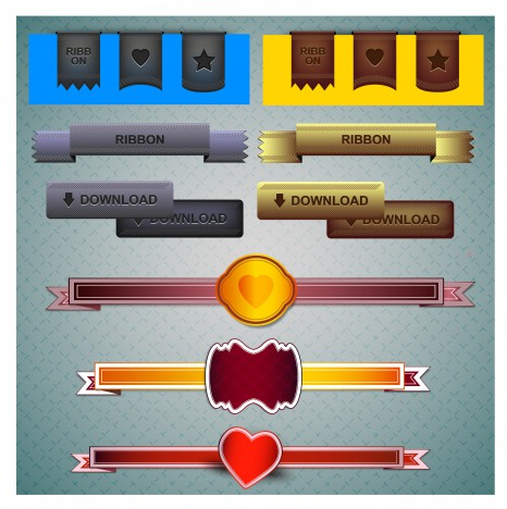 ribbon webdesign element