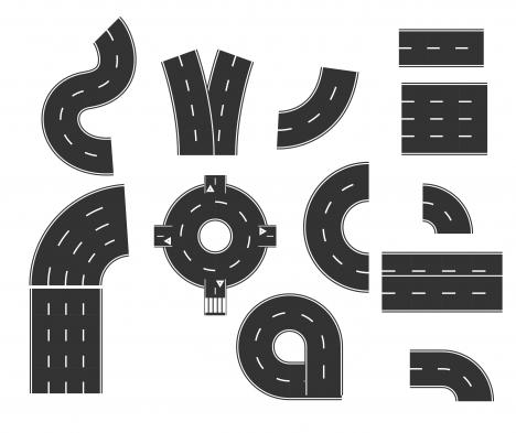 road way traffic point design element