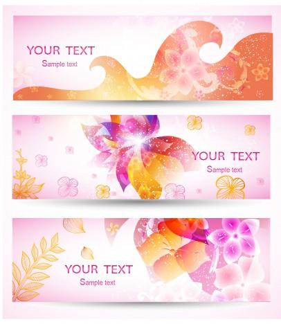 romantic pink banner set