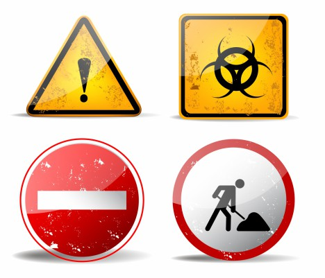 rusty warning signs