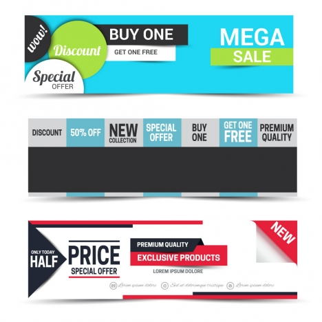 sale promotion banners sets with modern style