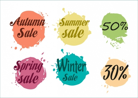 sales design elements grunge water color decor
