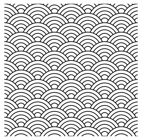 seamless fish scale pattern (vector)