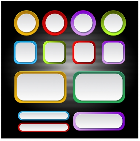 shaped blank button sets with coloured border