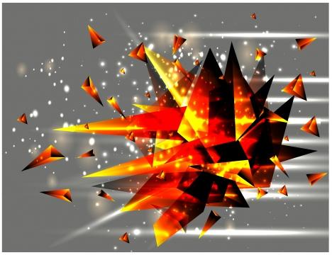sharp crystal explosion vector