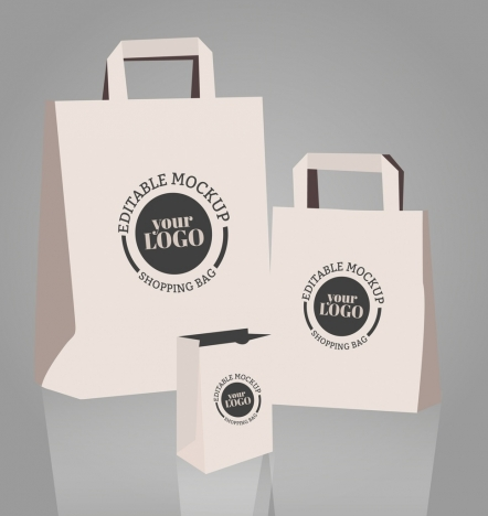 shopping bag templates 3d design circle decoration