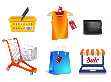 shopping icons collection