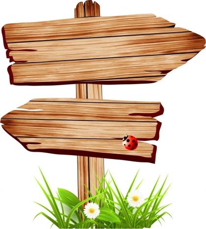 Signboard template retro wooden design vectors stock in format for ...