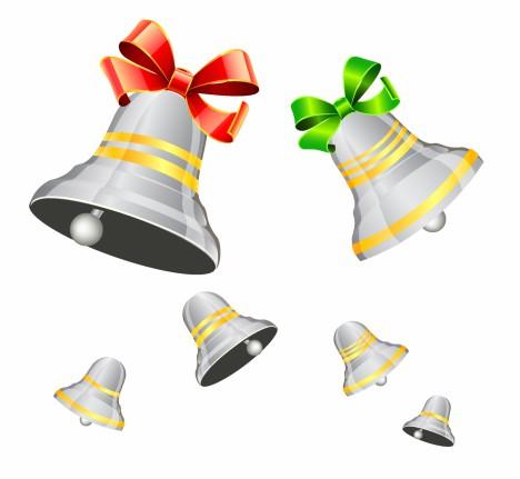 Silver Xmas Bells