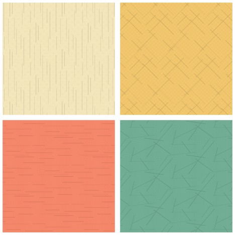 simple line patterns collection