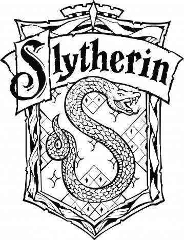 slytherin crest  slytherin crest vector graph...