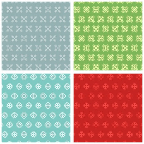 snow flake pattern collection