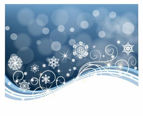 Snowflake Swirl Background