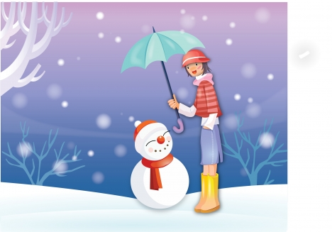 snowman vector drwaing