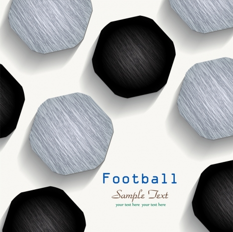 soccer background black white polygon shapes decor