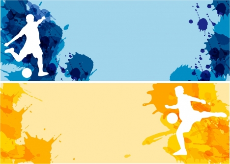 soccer background sets white silhouette colorful grungy decoration