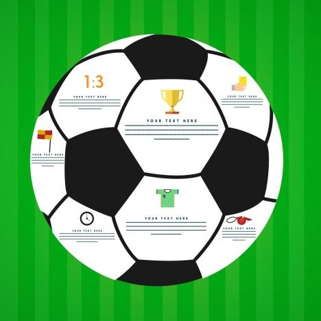 soccer ball icon closeup colored design