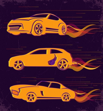 speed background racing cars icons sketch
