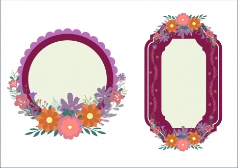 Beautiful flowers frame vectors stock for free download about (53 ...