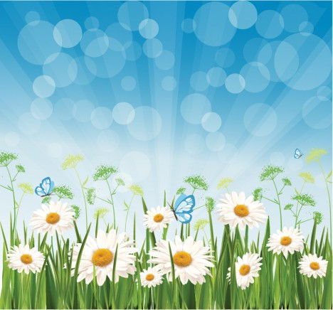 Spring morning background