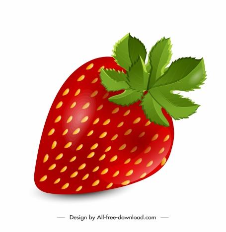 strawberry icon shiny colorful design