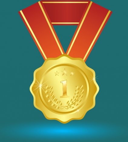 success concept design gold medal decoration closeup style