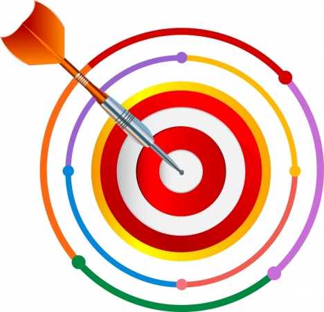 success concept icon arrow target design colorful decoration