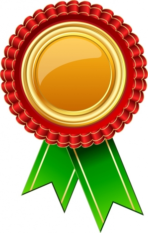 success conceptual icon closeup colorful shiny medal decoration