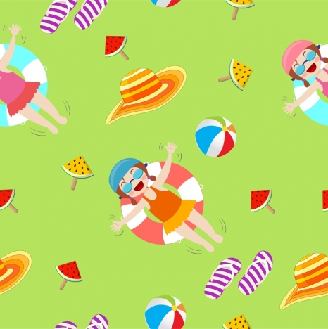 summer background beach vacation design elements repeating design
