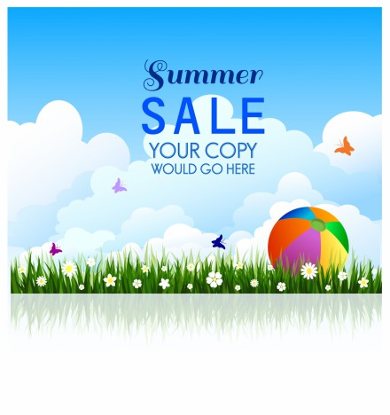 Summer sale background template