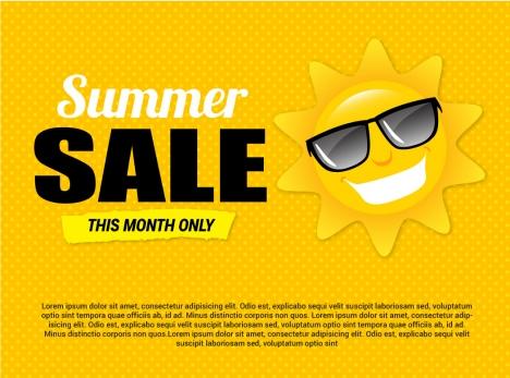 summer sale banner poster