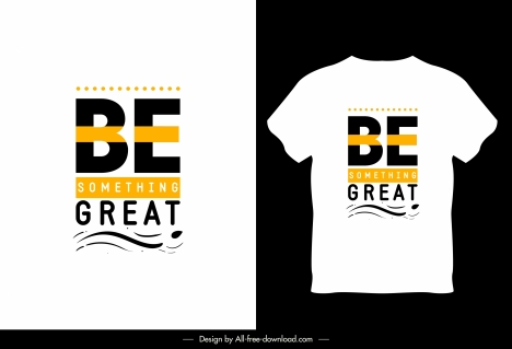 T Shirt Template White Design Modern Texts Vectors Stock In Format For Free Download 1 44mb