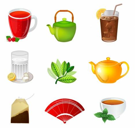 Tea ceremony icon set