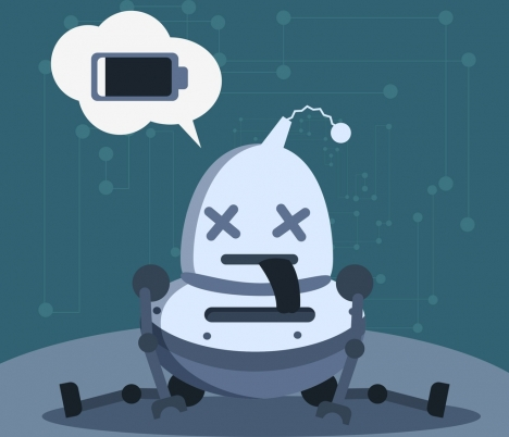 technology background robot smartphone icons funny design