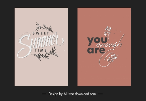 texts quotation banners classical plants calligraphic decor