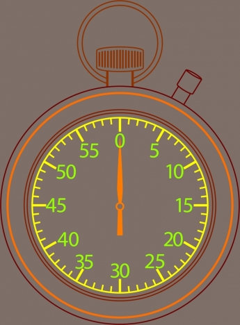 timekeeper outline colored closeup style