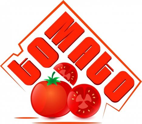 tomato logo design red calligraphy design slice icon