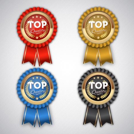 top quality medal badge set