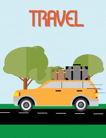 traveler on car