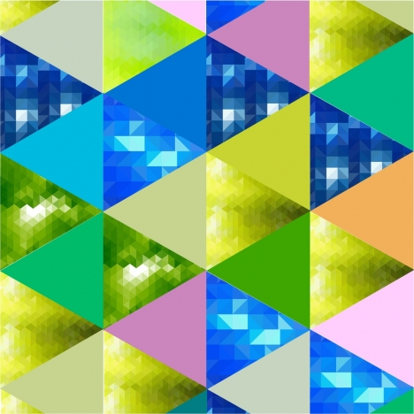 triangles background design with colorful bokeh style