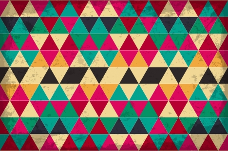 triangles pattern background colorful vintage repeating style