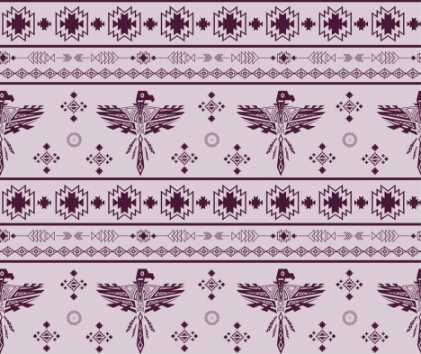 tribal classical repeating pattern design legendary birds decoration