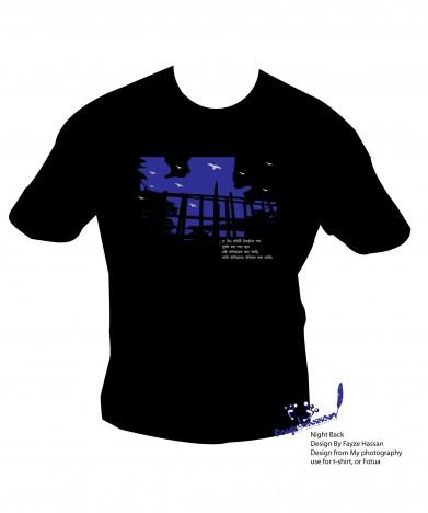 Shirt design night back vector graphic t shirt design night back add