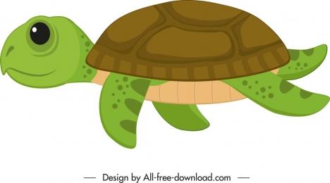 turtle icon cute colored cartoon sketch
