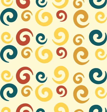 twisted circles background colorful flat repeating decor