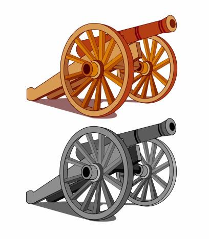 Typical field gun