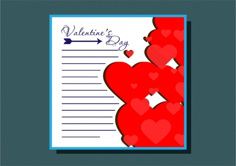 Valentines card design with hearts and arrow decoration vectors