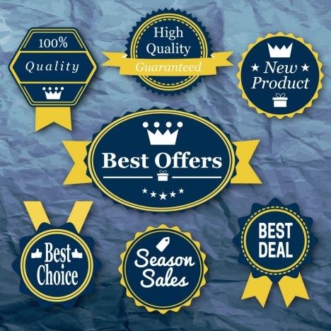 vector illustration of sale promotion label sets